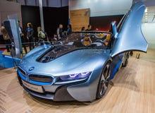 83rd Geneva Motorshow 2013 - BMW i8 begreppsbil Fotografering för Bildbyråer