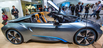 83rd Geneva Motorshow 2013 - BMW i8 Concept Car Royalty Free Stock Photo