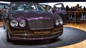 83rd Geneva Motorshow 2013 - det Bentley flyget sporrar Arkivbilder