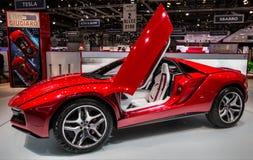 83rd Geneva Motorshow 2013 - ItalDesign Giugiaro ParcourRoadste Royaltyfria Foton