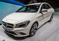 83rd Geneva Motorshow 2013 - Mercedes-Benz CLA Fotografering för Bildbyråer