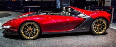 83rd Geneva Motorshow 2013 - Pininfarina Sergio begrepp Arkivfoton