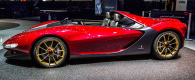 83rd Geneva Motorshow 2013 - Pininfarina Sergio Concept Stock Photos