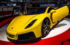 83rd Geneva Motorshow 2013 - Spania GTA Spano Royaltyfri Fotografi