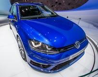 83rd Geneva Motorshow 2013 - Volkswagen GolfVariant R fodrar Royaltyfria Bilder