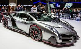 83ste Genève Motorshow 2013 - Lamborghini Veneno Stock Foto