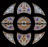 84 окно запятнанное стеклами Стоковое Изображение