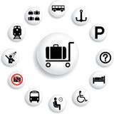 84_B. Iconos del transporte Imagenes de archivo