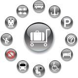 84_A. Iconos del transporte Imágenes de archivo libres de regalías