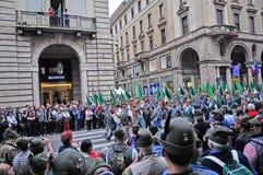 84. Nationale Versammlung von Alpini in Turin, Italien Stockbild