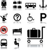 84 symboler inställd transport Royaltyfria Foton