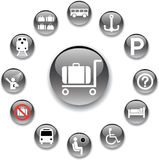 84_A. Transport icons Royalty Free Stock Images