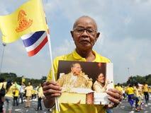 85. födelsedag för thailändska konungar Arkivfoton