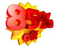 85 per cento fuori Illustrazione Vettoriale