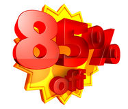 85 percent price off discount Stock Photo