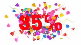 85 por cento fora Foto de Stock Royalty Free