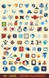 86个设计徽标向量 免版税库存照片