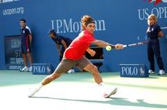 86 2008 Roger Federer pan nas otwarte Obraz Stock
