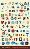 86 vector logo designs. Vector logo & design elements,86 pieces Royalty Free Stock Photos