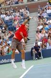 87 2008 Roger Federer pan nas otwarte Obrazy Stock