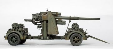 88 ogień artylerii Zdjęcia Stock