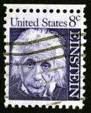 8c爱因斯坦印花税美国 图库摄影