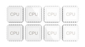 8core CPU Stock Photo