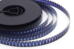 8mm影片轴白色 免版税库存照片