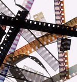 8mm Film Bits Stock Photography