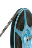 8mm Film on reel. On white background with space for copy Royalty Free Stock Photography