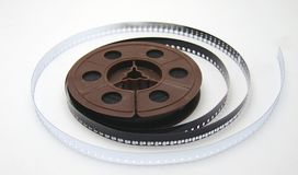 8mm film tape on white Royalty Free Stock Photos