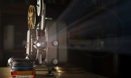8mm Filmprojector stock foto