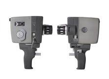 8mm kamery film odizolowywający Fotografia Stock