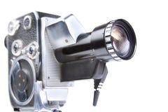 8mm kamery odosobniony rocznika biel Zdjęcia Stock