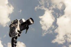8mm kamery odosobniony rocznika biel Fotografia Royalty Free