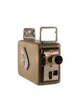 8mm wind-up camera. Isolated on white royalty free stock photo