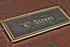 8ste Straat Royalty-vrije Stock Foto