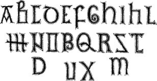 8th Century Alphabet Royalty Free Stock Image