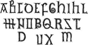 8th Century Alphabet. 8th Century Medieval Alphabet, Capitals Royalty Free Stock Image