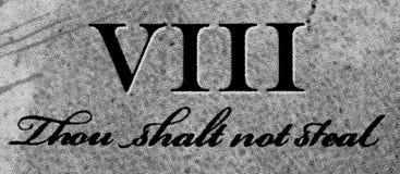 8th Commandment stock photos