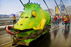 8th Joburg Carnival - Street Parade. Floats of all shapes and sizes adorn our streets, crossing over the Nelson Mandela Bridge into Newtown Royalty Free Stock Image