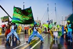8th karnevaljoburg ståtar gatan Arkivfoton