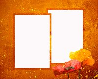 8x10 grunge ramowy zmierzch dwa Zdjęcie Royalty Free