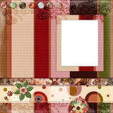 8x8 cali cyganów układu stron artystyczny album albumowy styl ilustracja wektor