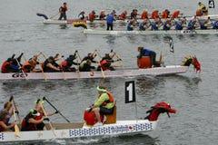 9ème Regatta annuel de bateau de dragon de Fest de gorge Image stock