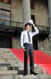 9个亚洲人工程师年轻人 免版税图库摄影
