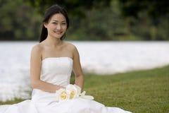 9个亚洲人新娘 库存图片