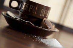 9个咖啡杯 免版税库存图片