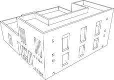 9个房子透视图 免版税库存图片