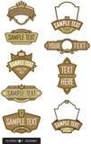9个标签徽标集合向量 免版税库存照片